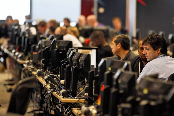 London Olympics security officials say they are well prepared for cyber attacks. More than 3,500 information technology engineers and technicians have been assigned to monitor the Games' computer systems and networks. Above, the Games' technology operations center.