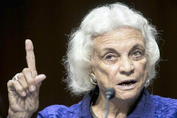 Retired Supreme Court Justice Sandra Day O'Connor testifies before the Senate Judiciary Committee.