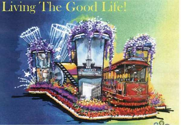 A rendering of the 2013 City of Glendale Rose Parade gloat.