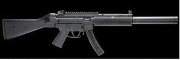 Authorities say a weapon like this was used in an armed robbery at the 7-Eleven at 11922 Main St. in Libertytown, Md.
