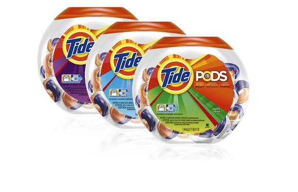 Undated Procter & Gamble handout image of Tide Pods detergent
