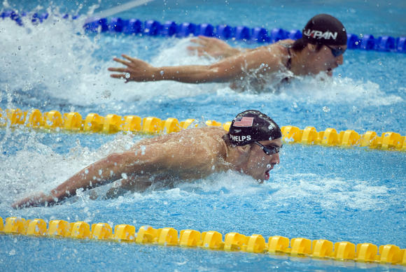 Michael Phelps in the 2008 Olympics