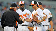The Orioles bullpen was forced to throw 6 1/3 innings Wednesday when starter Miguel Gonzalez couldn't get out of the third.