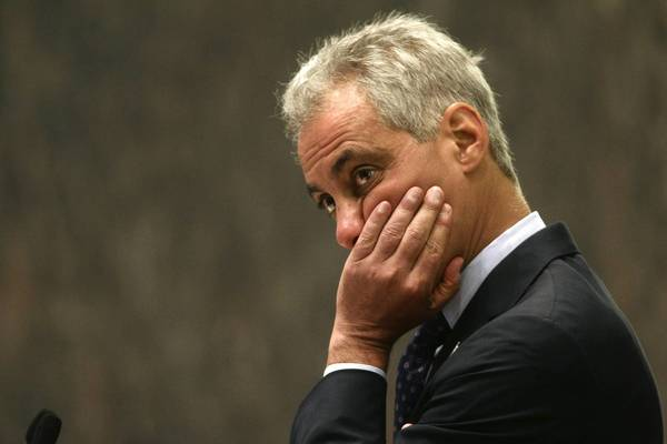 Mayor Rahm Emanuel, one of the sponsors of the food truck proposal, saw aldermen vote 45-1 to adopt the law Wednesday at City Council.