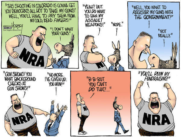 NRA fantasies, not Colorado shooting, scare gun owners