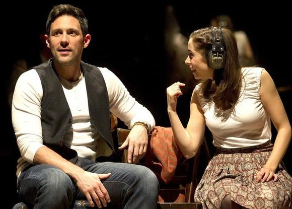 "Steve Kazee and Cristin Milioti in ""Once."""