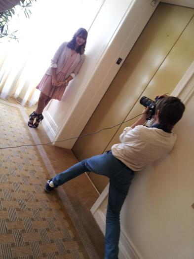 RedEye's Lenny Gilmore shoots Rashida Jones at the Peninsula Hotel in Chicago