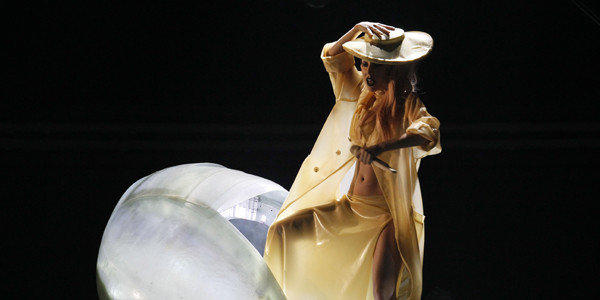 Lady Gaga performing in 2011. Development of a Gaga-based action figure has hit a legal snag.