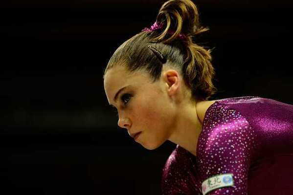 McKayla Maroney, shown here at the U.S. Gymnastics Trials on July 1, will probably compete only in the vault at Sunday's Olympic qualifications event.