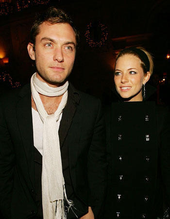Jude Law cheated on his fiance Sienna Miller with his children's nanny. After a few years apart, Sienna and Jude were back together -- only to split again in February 2011. If at first you don't succeed...