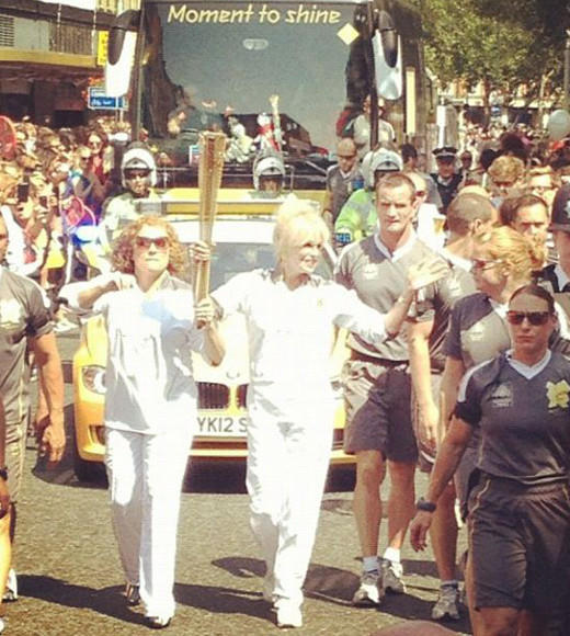 London 2012: Stunning mobile uploads from the Summer Olympics: #mrsedmondson #mrslumley #abfab #olympics -- @frenchandsaundersfan
