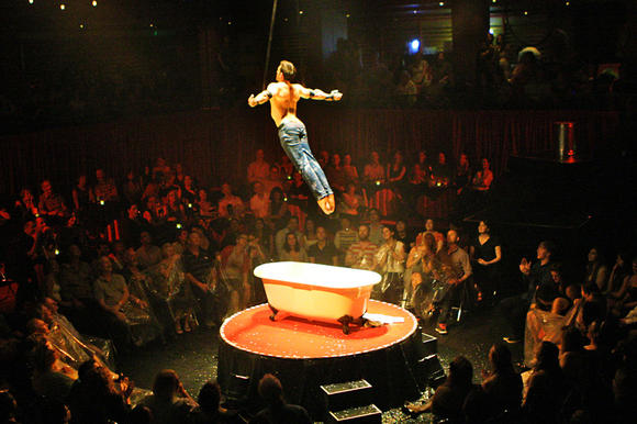 "At ""La Soiree"" in the Riverfront Theater, pay extra for the seats close to the action."