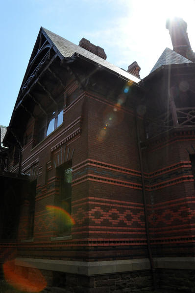 This landmark is the Mark Twain House, home of famous American author Samuel Longhorn Clemens. It became a National Historic Landmark in 1963 and hosts roughly 50,000 visitors annually.