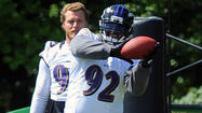 A half hour into the first full-squad practice of training camp, there is no sign of Pro Bowl defensive tackle Haloti Ngata or offensive tackle Bryant McKinnie. Of course, we will let you know if that should change. And we'll try to get an explanation from Ravens head coach John Harbaugh when practice wraps up around 5 p.m.