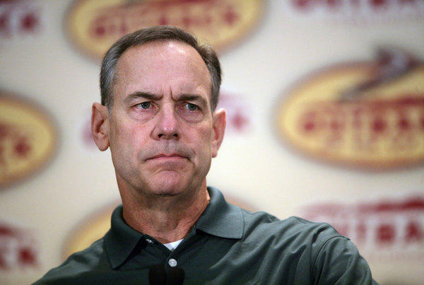 Michigan State's Mark Dantonio realizes that Michigan is the experts' pick to finish first in their division.