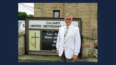 "Calvary United Methodist Church, Somerset, recently welcomed its new pastor, the Rev. Arnold T. ""Arnie"" McFarland. The church is at 239 West Church St., Somerset."