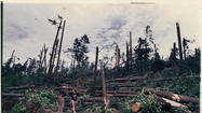 Damages from July 13, 1989 F2 tornado in Cornwall