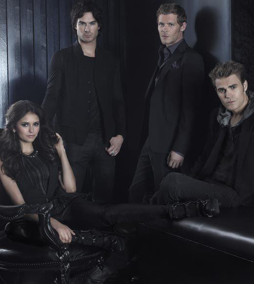 "<b>8 p.m.</b> <br><br> ""The Vampire Diaries"" (The CW) (pictured) <br><br> <b>9 p.m.</b> <br><br> ""Beauty and the Beast"" (The CW) <br><br> <b>10 p.m.</b> <br><br> ""It's Always Sunny in Philadelphia"" (FX) <br><br> <b>10:30 p.m.</b> <br><br> ""The League"" (FX)"