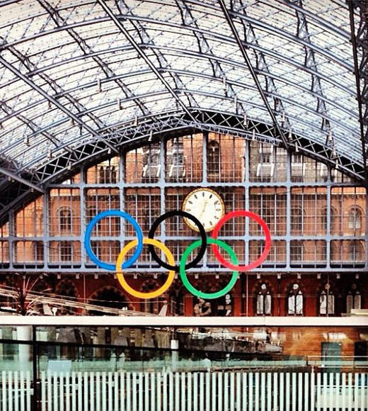 London 2012: Stunning mobile uploads from the Summer Olympics: #olympics #stpancras #england -- @mariegem