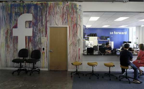 Inside Facebook's headquarters in Menlo Park, Calif.