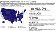 Graphic: Concealed carry permits by the numbers