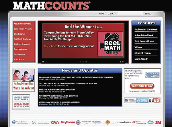 MathCounts is geared toward middle school students and exists in almost all Washington County Public schools. It also partners with The Maryland Society of Professional Engineers to host annual math competitions for students.