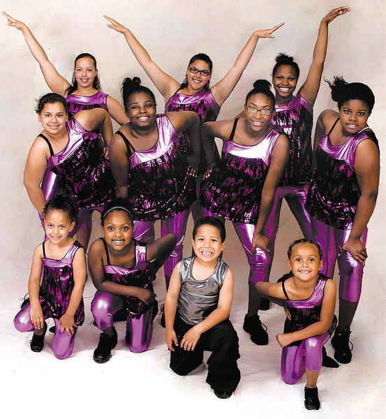 The Sumans Avenue dance class from Ballet and All that Jazz includes, front row, from left, Shiane Hill, Kamilah Scott, Shane Hill and Nevaeh Robinson. Middle row, Tayida Stewart, Akelah Taylor, Jameeka Shrader and Amesha Moore. Back row, Shaylonda Hill, Keegan Hill and Najja Scott.