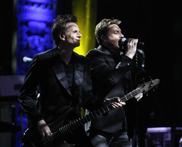 John Taylor, left, and Simon Le Bon of Duran Duran.