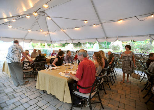 Rodale Catering and Events served an organic dinner at the Working Tree Center in Allentown on Wednesday.  It was the first pop-dinner that they held serving all organic food.