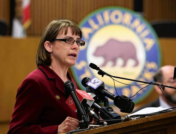 Ruth Coleman, the director of California's parks department, seen in 2011, resigned July 20 amid the uproar over a $54-million surplus found in her department. She denied that she knew about the money.