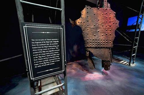 The second-largest piece of the Titanic ever recovered from the ocean floor is now displayed at  Titanic the Experience on International Drive.