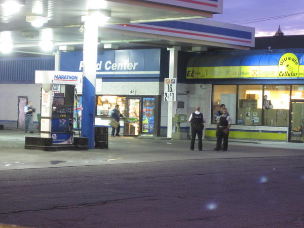 A gas station clerk was fatally shot about 4 a.m. near the intersection of Homan Avenue and Washington Boulevard, police said.