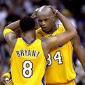 Kobe hugs Shaq