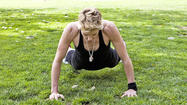 Jackie Warner recommends sprawls for an upper-body workout