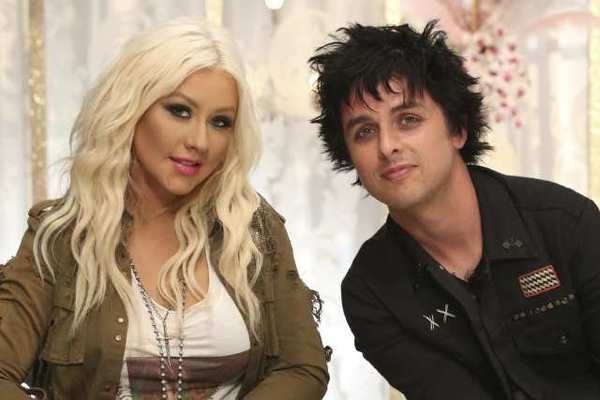 Christina Aguilera is bringing Green Day's Billie Joe Armstrong onto her team on NBC-TV's 'The Voice.'