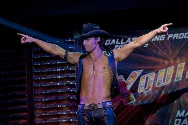 "McConaughey as stripper-wrangler Dallas in Warner Bros. Pictures' ""Magic Mike."""
