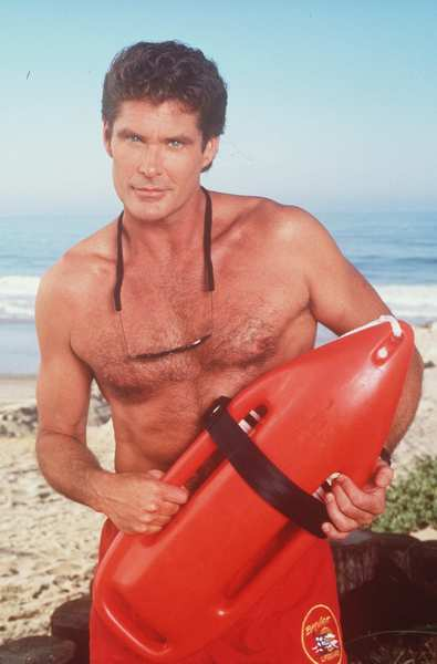 "Ah, the classics — like the Hoff in ""Baywatch."""