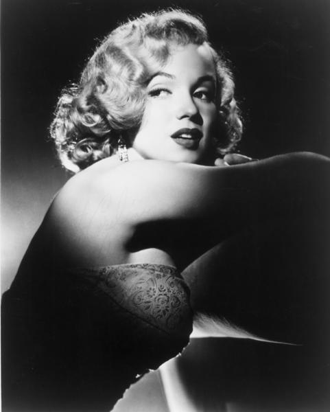 Studio portrait of Marilyn Monroe circa 1950.