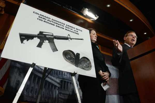 Sen. Robert Menendez (D-N.J.) and Rep. Diana DeGette (D-Colo.) spoke about gun laws this week.