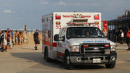 A 12-year-old girl was pulled from Lake Michigan near North Avenue Beach this afternoon by Chicago Park District lifeguards after she was swamped by waves.