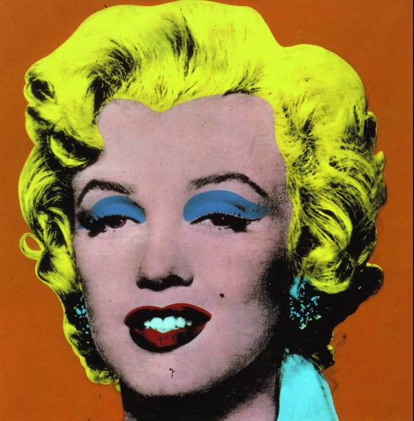 """Orange Marilyn"" by Andy Warhol."