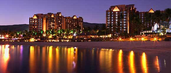 Families are the target audience at the Aulani, a Disney Resort and Spa on Oahu in Hawaii.