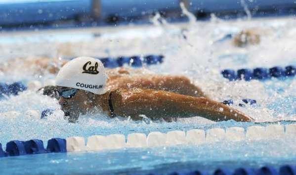 Natalie Coughlin swims in the women's 100-meter butterfly semifinals at the U.S. Olympic swimming trials on June 25.