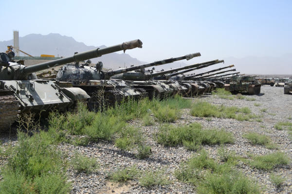 Dozens of Soviet tanks were left to rust in place more than two decades ago, one of many explosive hazards in Afghanistan.