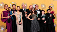 "Stars of the hit ABC comedy""Modern Family"" agreed to new contracts on Friday, ending a dispute that erupted in public just as the show prepared to start work on a fourth season."