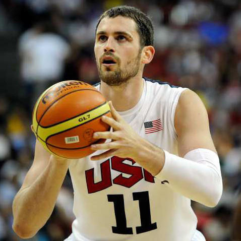 Kevin Love can play forward or center and hit the three-pointer. He plays for the Minnesota Timberwolves in the NBA.
