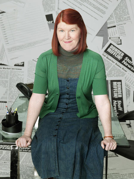 "A former member of Second City's National Tour Co., Kate Flannery is an original member of Chicago's Annoyance Theater, where she helped create more than 15 shows back in the day, including ""The Real Live Brady Bunch"" and ""The Miss Vagina Pageant."" Flannery was born and grew up in Philadelphia, but her work in Chicago qualifies her for our ""local"" gallery. Just in case you dond't know, she currently plays alcoholic Meredith Palmer on NBC's ""The Office."""