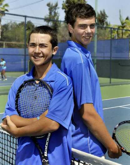 San Marino High sophomore Robert Carter and freshman Danny Gealer are the 2012 All-Area Boys' Tennis Doubles Team of the Year.