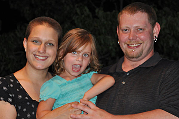 From left, Brandi N. (Killingsworth) Cleeves, Leia Cleeves and Vincent Luke Santucci. Brandi Cleeves and Santucci were fatally shot Friday night in Quincy Township, Pa.