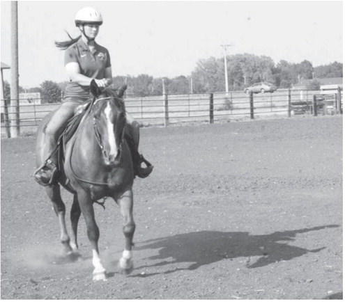 Sheila Price of Redfield is an equestrian athlete at South Dakota State. American News Photo by Cara Ball